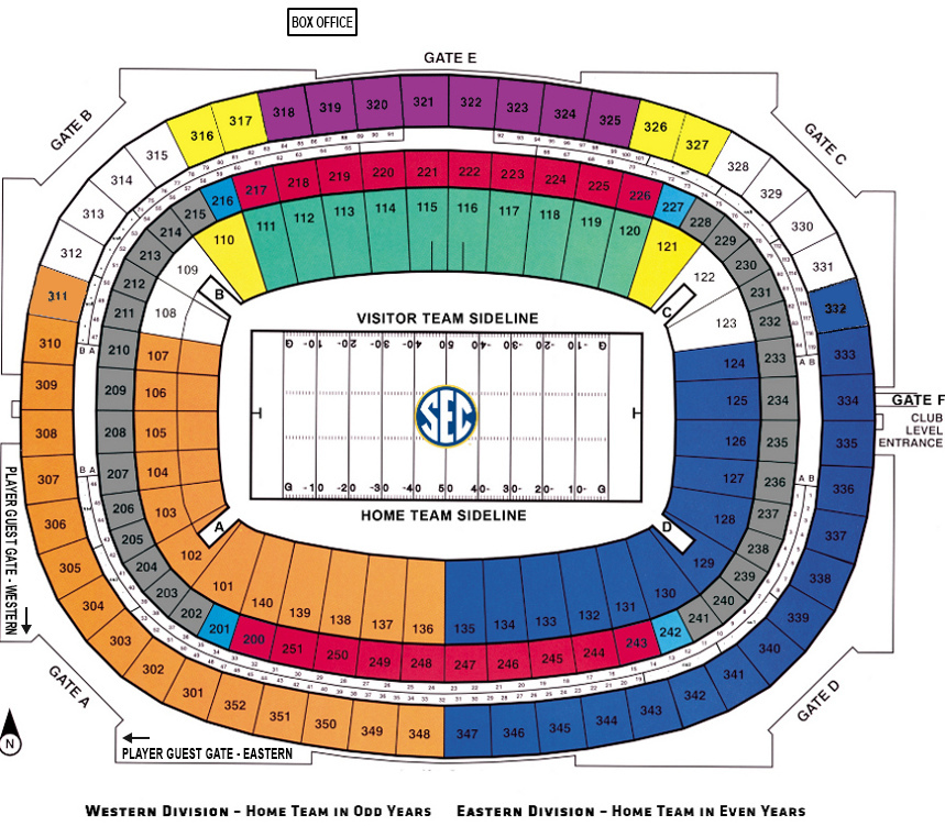 Sec championship tickets for Mercedes benz dome atlanta seating chart