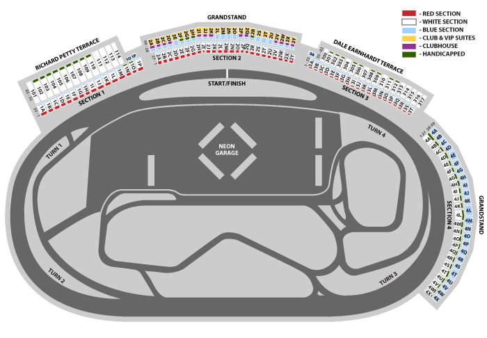 nascar tickets las vegas motor speedway On las vegas motor speedway seating map