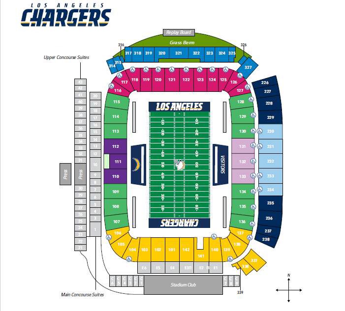 Los Angeles Chargers Season Tickets Theticketbucket Com
